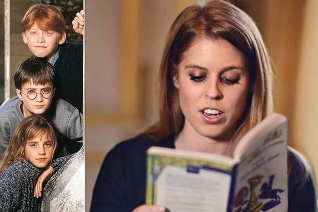 """Принцесса читает """"Философский камень"""" с обложкой из серии Signature"""