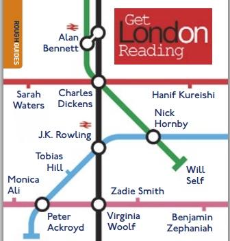 Символика фестиваля - карта Лондонского метро с именами писателей в качестве станций