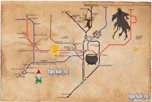 Фанаты нарисовали карту волшебного метро