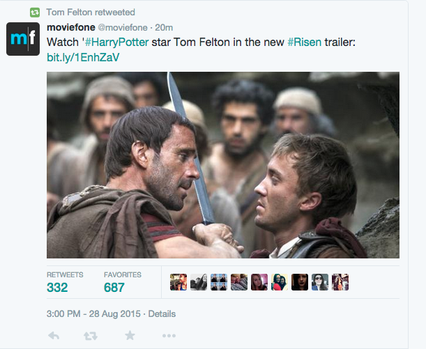 Твиттер Тома Фелтона