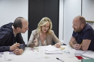 Джоан Роулинг и ее помощники - Джек Терн и Джон Тиффани
